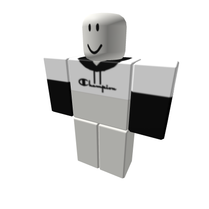 Black White Champion Hoodie For Girls