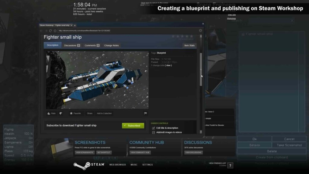 How to create a Blueprint in Steam