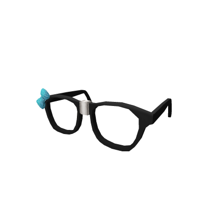 Broken Teal Bow Glasses