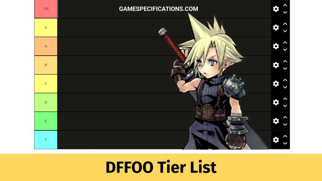 DFFOO Tier List