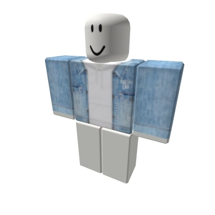 Denim Jacket With White Roblox Hoodies