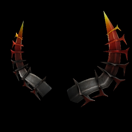 Fiery Roblox Horns of the Netherworld