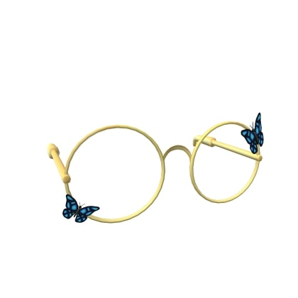 Glasses With Butterflies