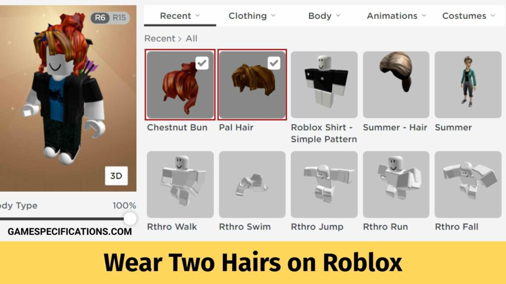 How to Wear Two Hairs on Roblox