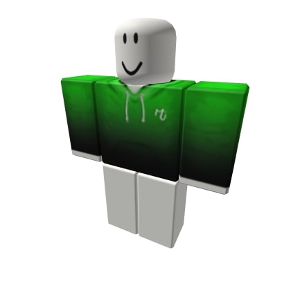 Green Black Fade Roblox Hoodies