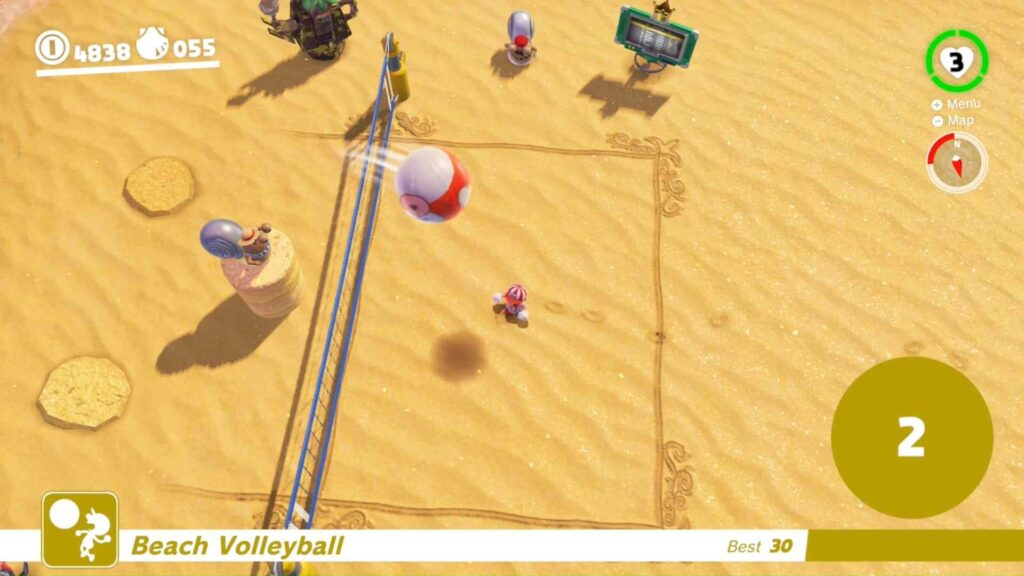 Mario Odyssey Playing Volleyball