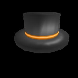 Orange Branded Top Hat