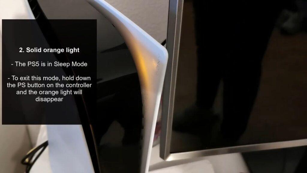 PS5 Blinking Orange Light Rest Mode
