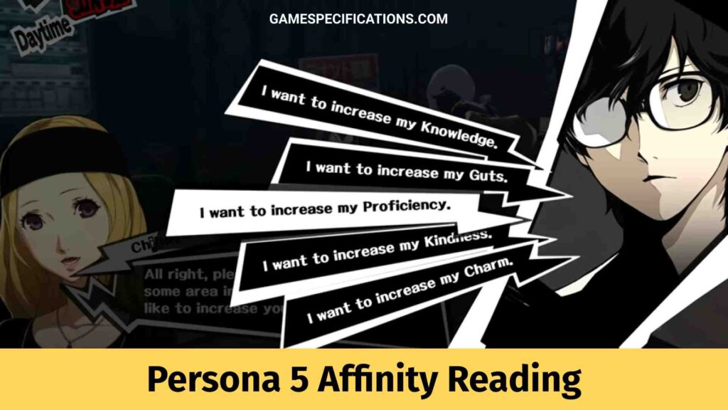 Persona 5 Affinity Reading