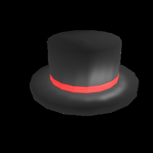 Red Branded Roblox Top Hat