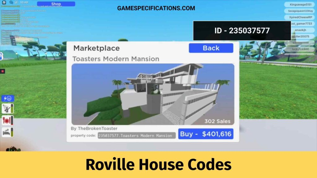 Roville House Codes