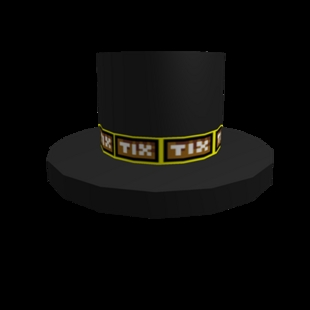 The Ticket Banded Roblox Top Hat