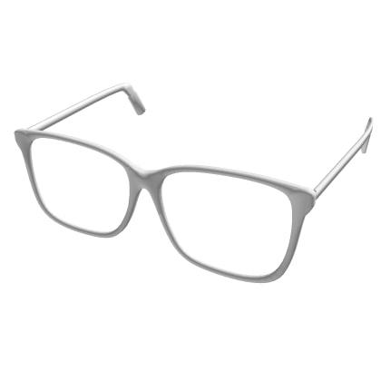 White Reading Roblox Roblox Glasses