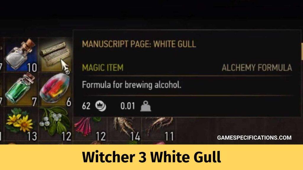Witcher 3 White Gull