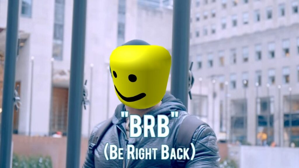 BRB meaning in Roblox