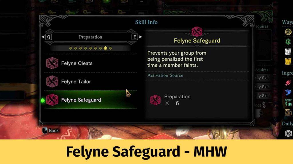 Felyne Safeguard MHW