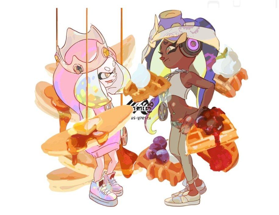 Pearl and Marina (Splatfest Art)