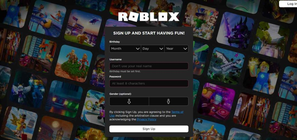 Create A New Account Roblox