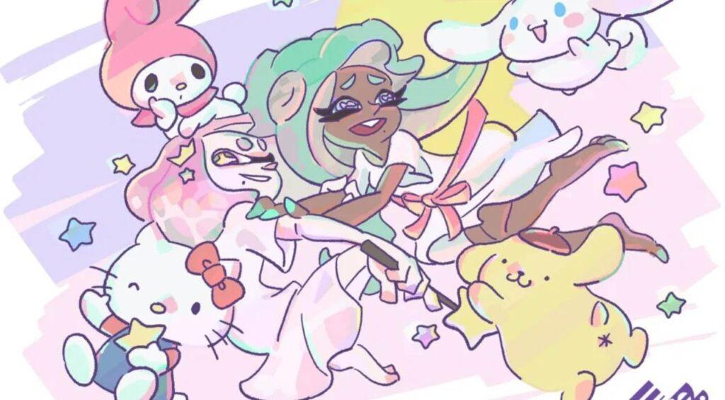 Nintendo Releases Splatoon 2 Sanrio Splatfest Artwork Featuring Pearl and Marina