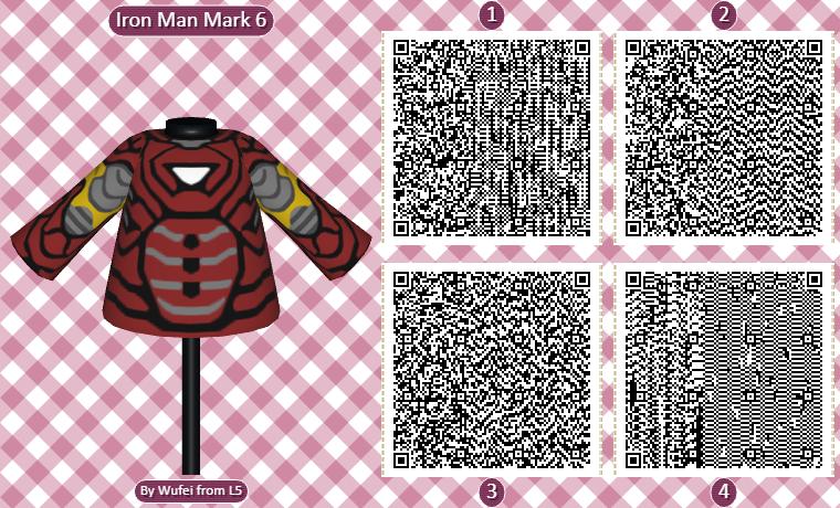 Animal Crossing QR Codes Iron Man Armor