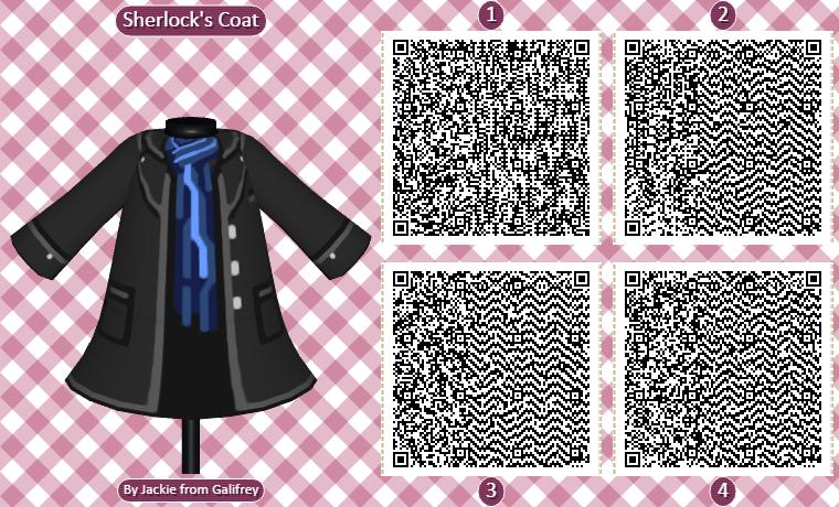 Best Animal Crossing QR Codes Sherlock Coat