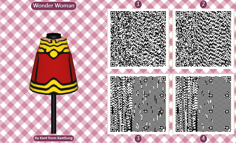 Animal Crossing QR Codes Wonder Women Dress
