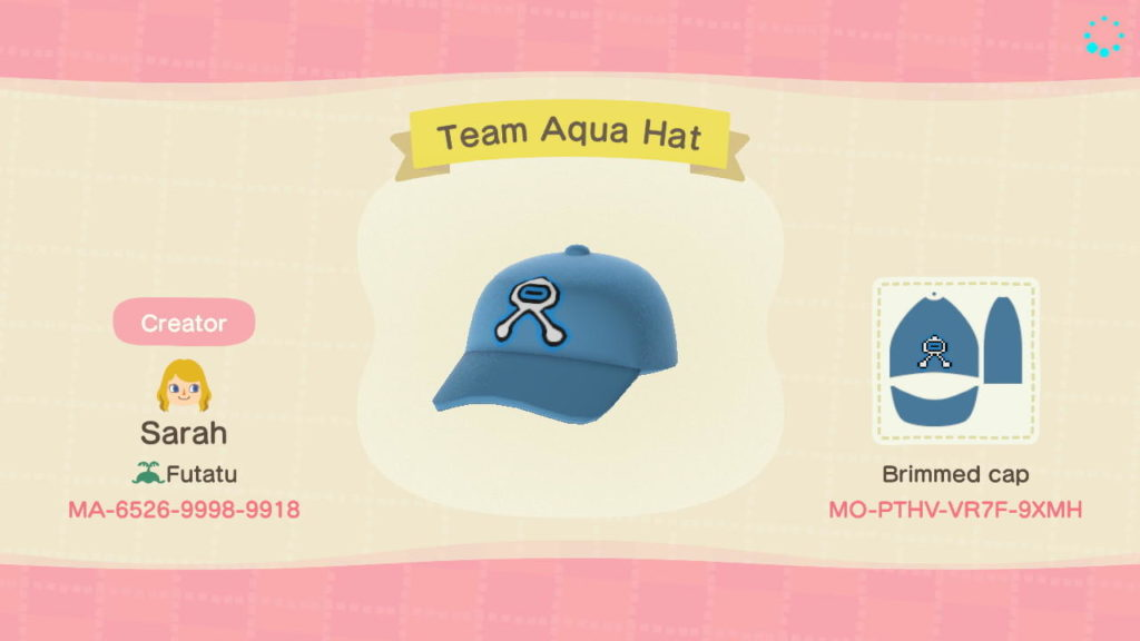 Team Aqua Hat