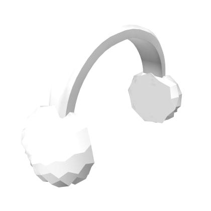 Roblox Fluffy Earmuffs In White