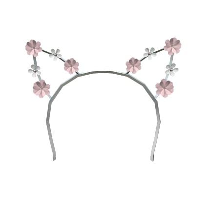 Roblox Miau Headband Silver and Pink
