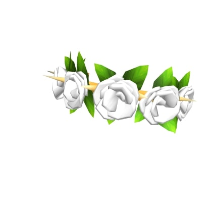 Roblox Spiked White Rose Crown